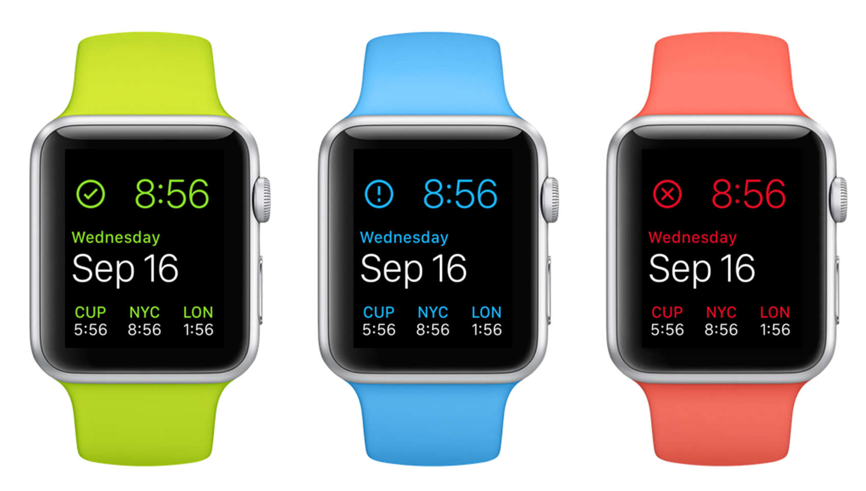 The DataMan complication, as seen in the upper left of these Apple Watches, monitors your data usage.