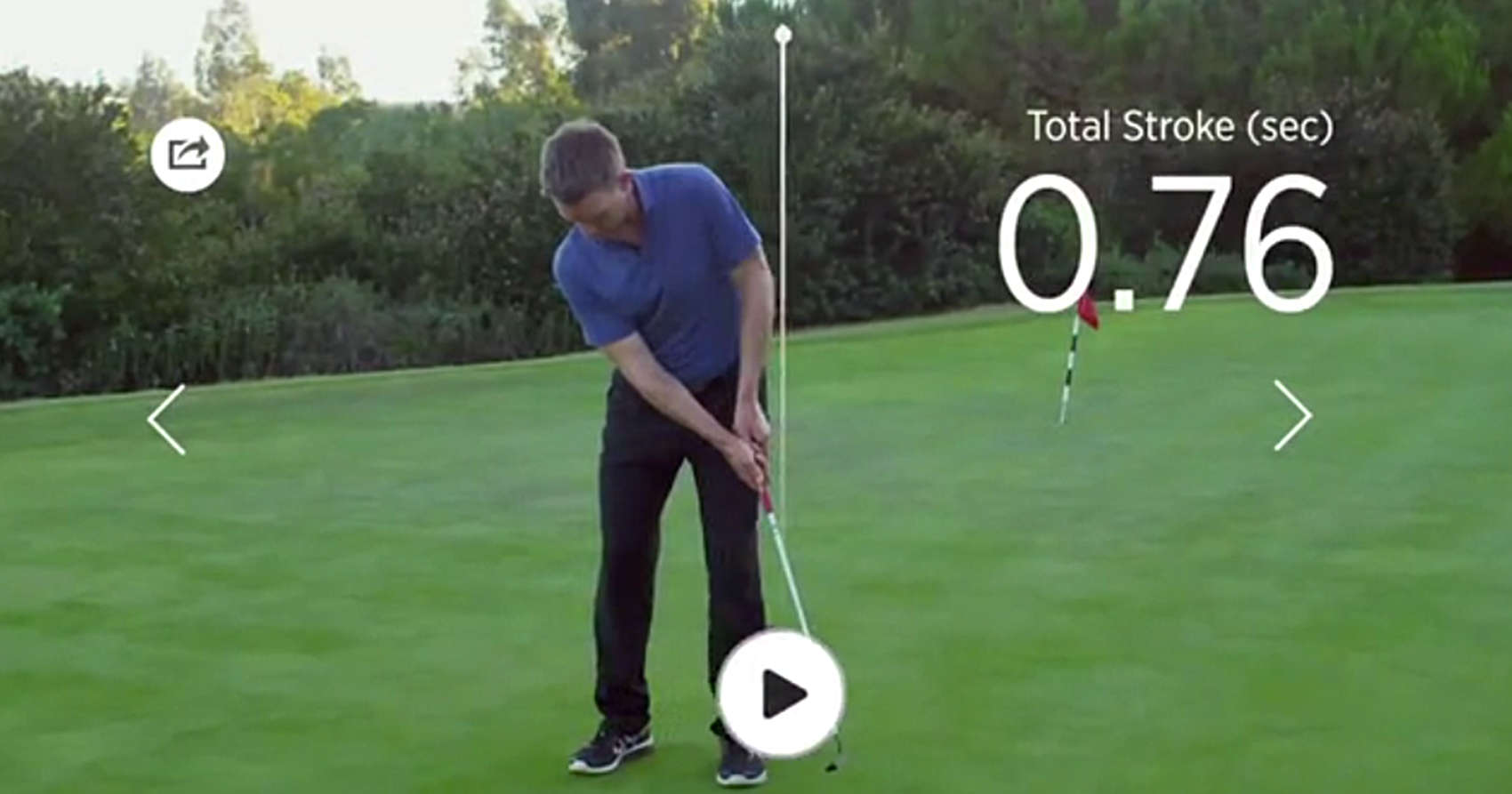 Blast Golf Replay is a sensor on the club teamed with your iPhone to provide swing data flashed across a video replay.