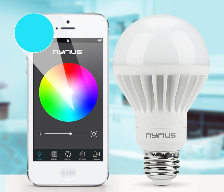 You can control the Nyrius smart bulb with your smartphone.