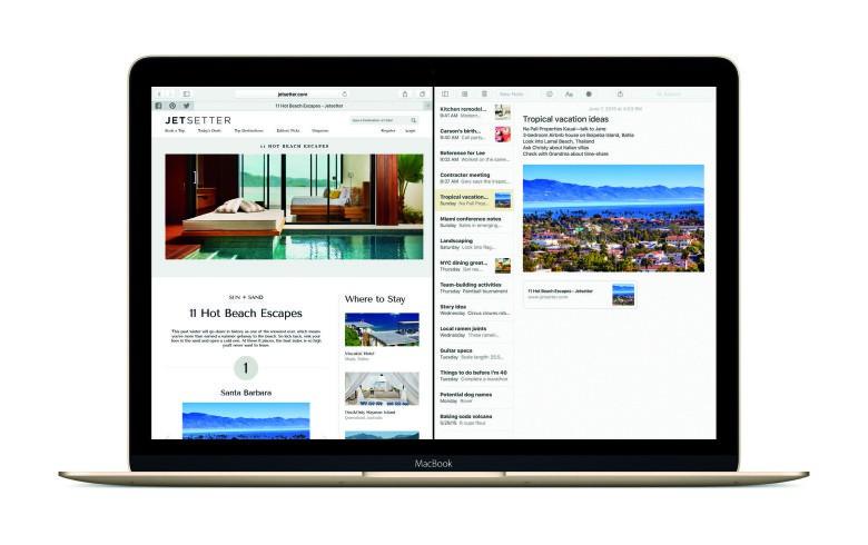 OS X El Capitan Safari Notes