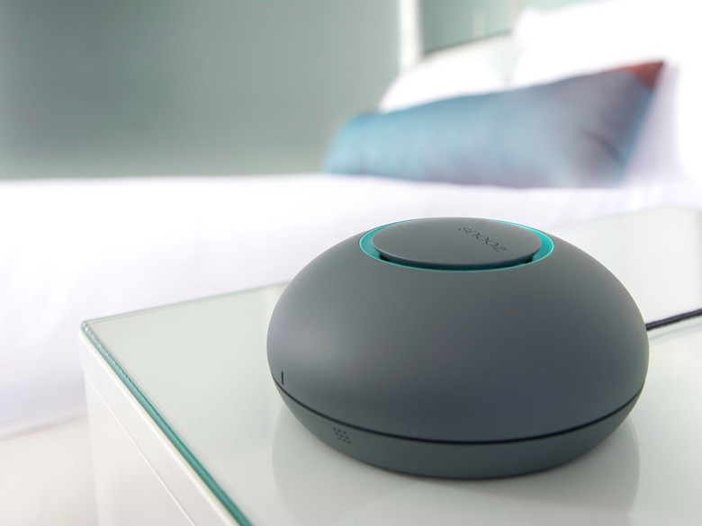 The makers of the SNOOZ white noise machine vow to turn your bedroom into a