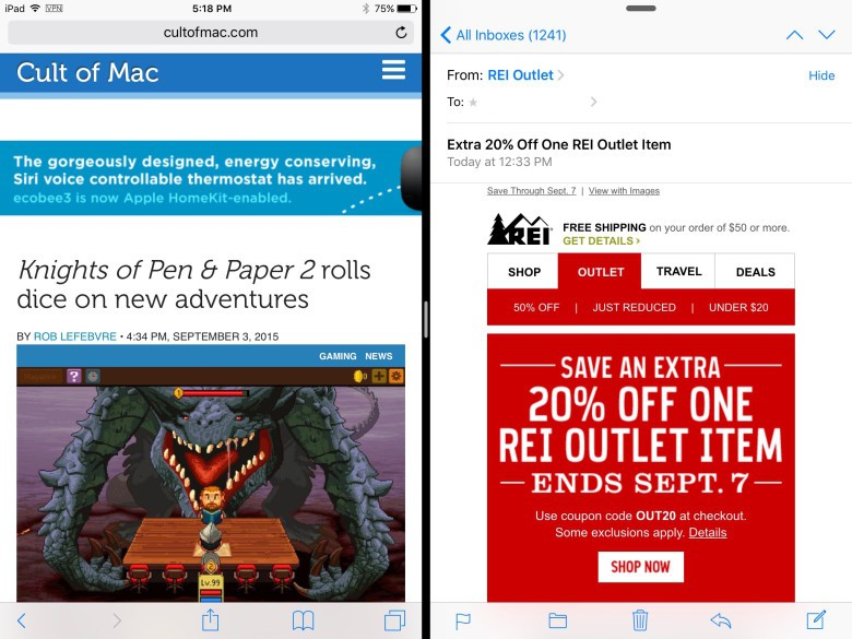 Multitask like a pro with Split view in iOS 9.