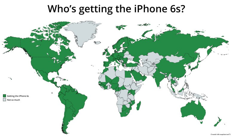 iPhone 6s coverage map
