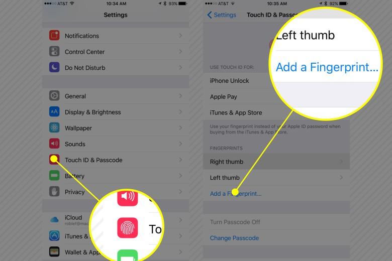 Add all four fingers from each hand to make unlocking your iPhone even easier.