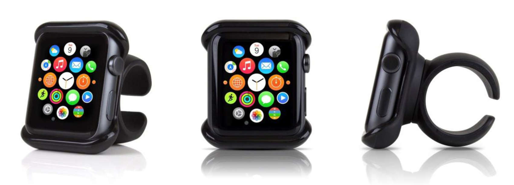This Apple Watch mount by accessory manufacturer Satechi will fit on steering wheels and handlebars.