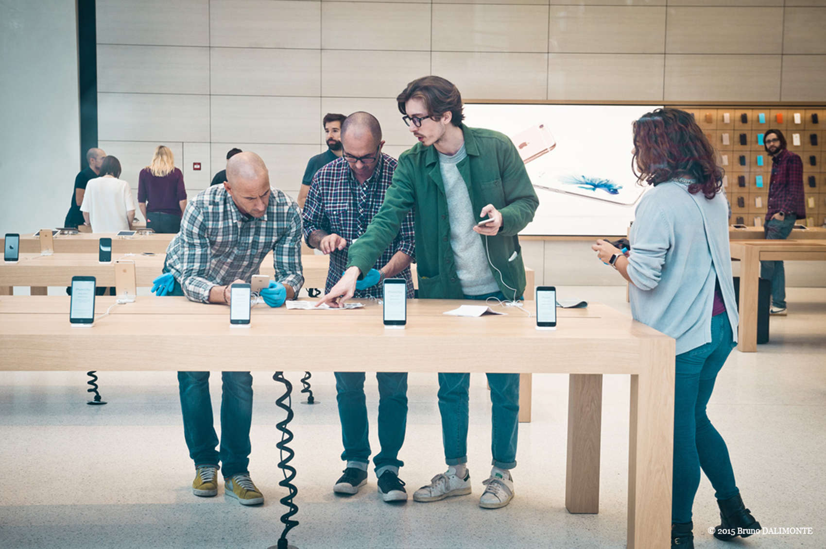 Members of the press were given a preview of the new Apple Store in Brussels, which official opens Saturday.
