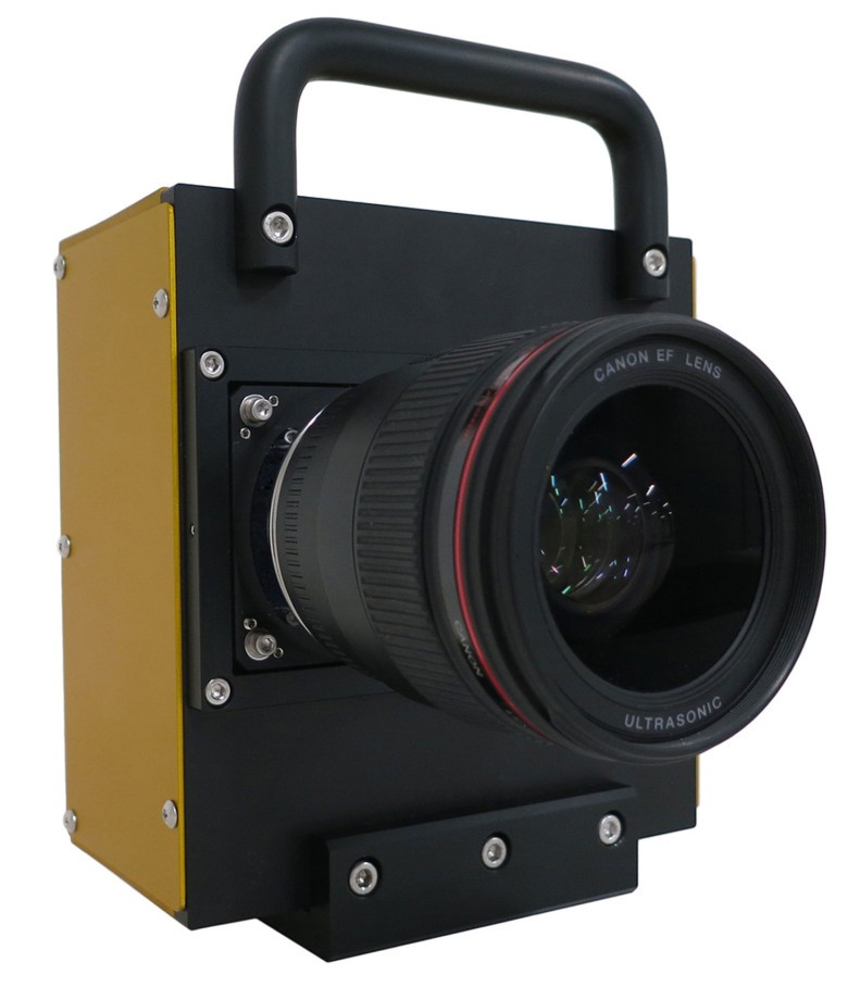 Picture of the prototype camera Canon used to rest a 250-MP sensor.