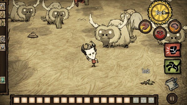 Those beefalo look pretty worried.