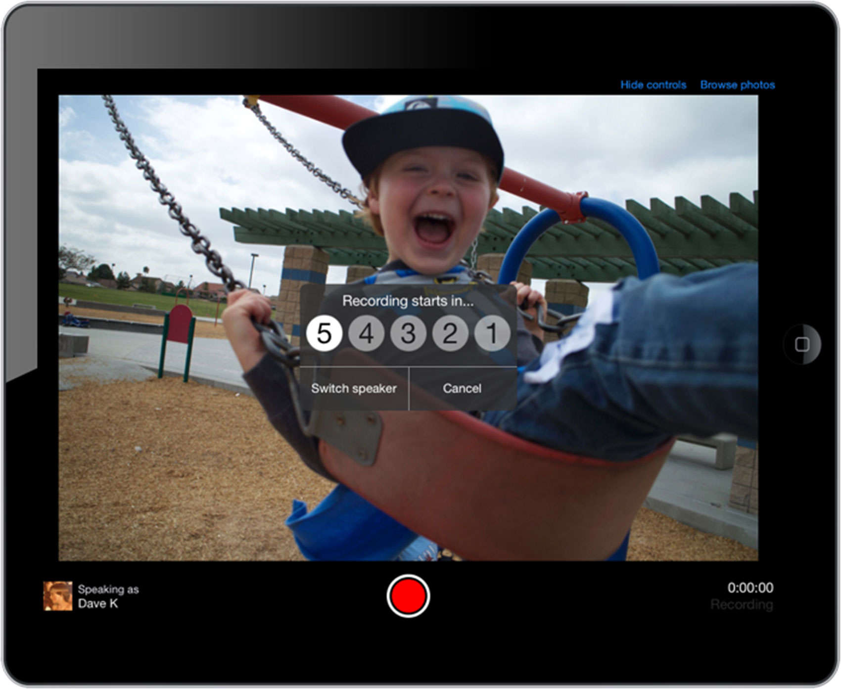 everyStory allows you to curate digital photos albums and add audio to each photo.