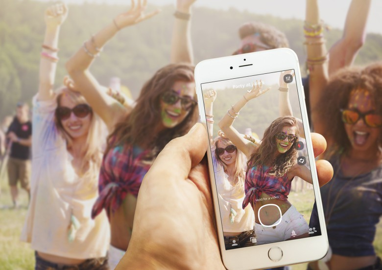 Flashgap lets you take pictures at the party, but then makes you wait a day before you can share them.