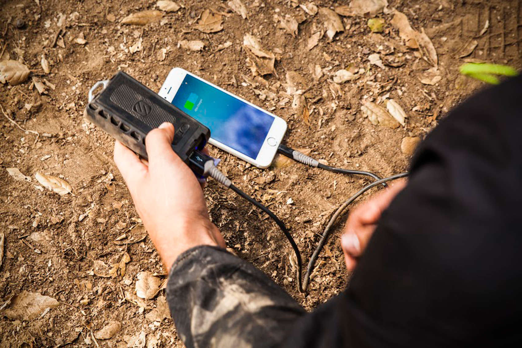 The goBAT 6000 can charge your smartphone up to three times during your outdoor adventures.