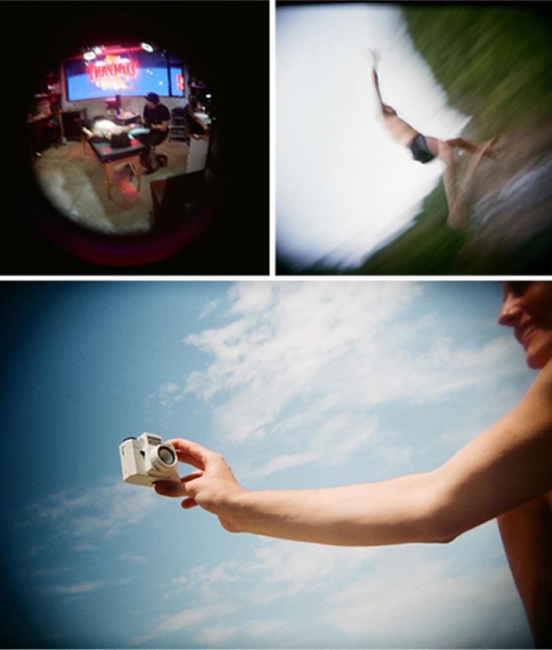 I series of pictures captured on a Holga digital.