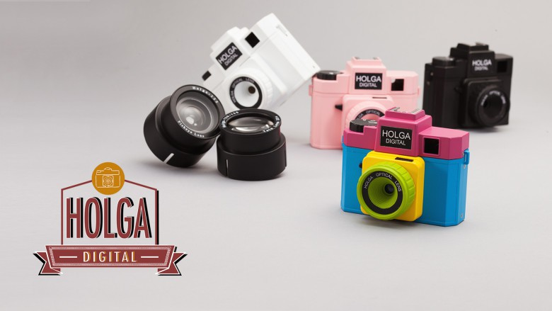 The Holga comes in four colors and lens attachments made for the film models will fit on the newer cameras.