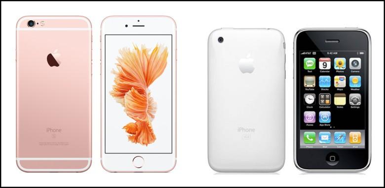 iPhone 6s versus iPhone 1