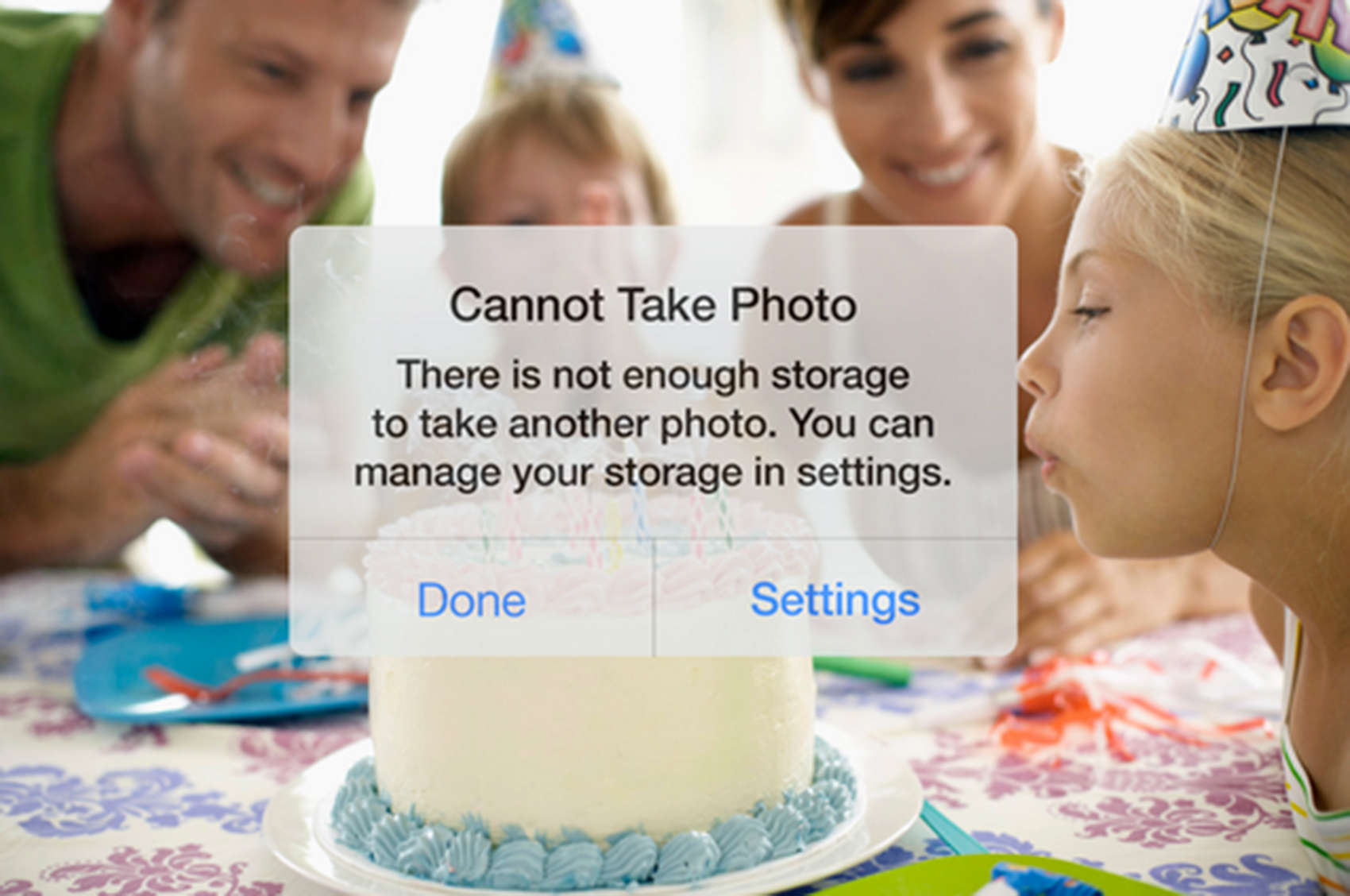 Avoid this message with the IceCream app, which quickly helps free your storage to continue shooting photos.