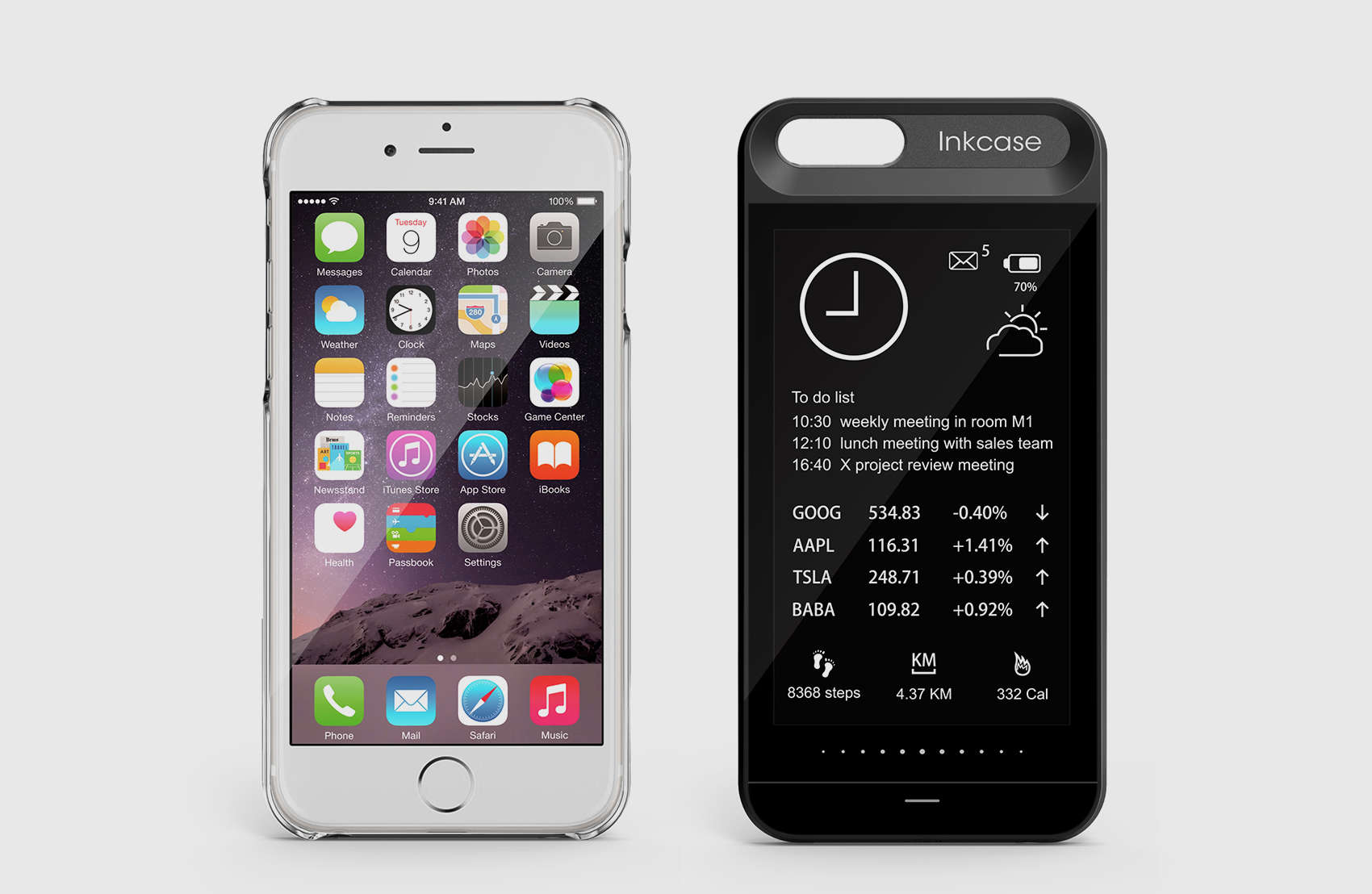 The InkCase i6 gives your iPhone 6 protection and a second screen.