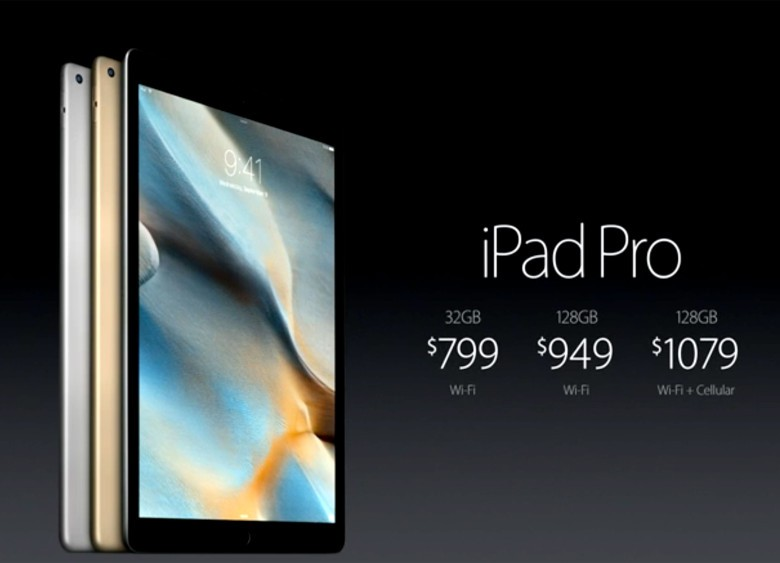 The iPad Pro goes on sale November 11th.