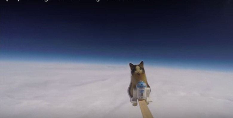 The Loki Lego Launcher made it to 78,000 feet above the Earth before the weather balloon burst.