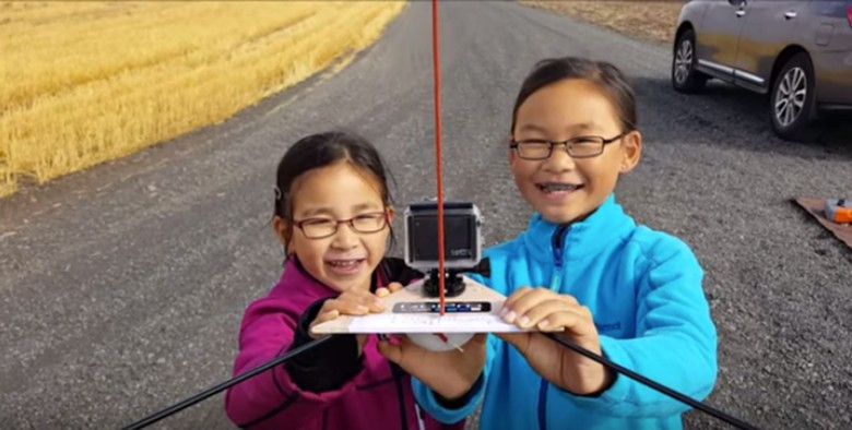 Kimberly and Rebecca Yeung ready their space craft for flight into near space.