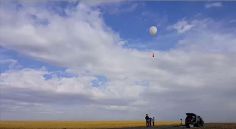 The Yeung sisters get their craft ready for launch in central Washington.