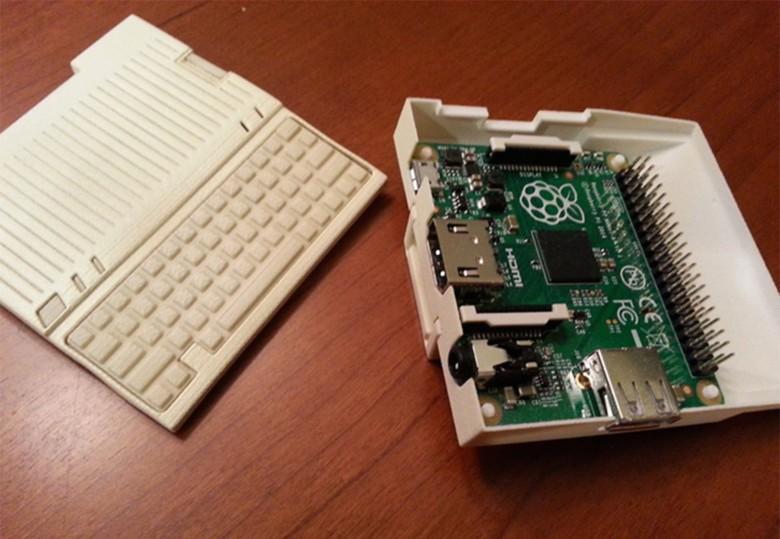 Magin made some modifications to fit the Raspberry Pi components.