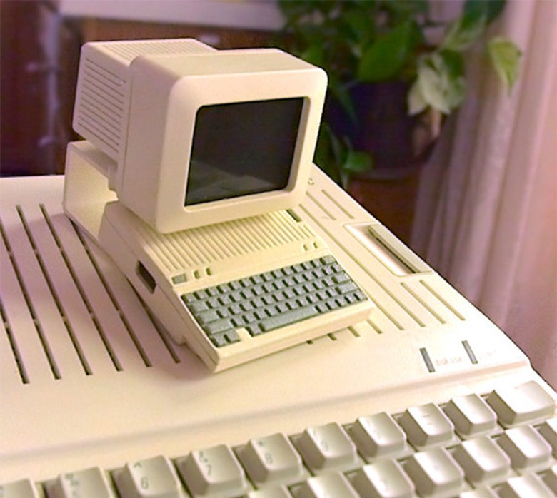 This 3D printed miniature of an Apple II was designed to house a Raspberry Pi computer.