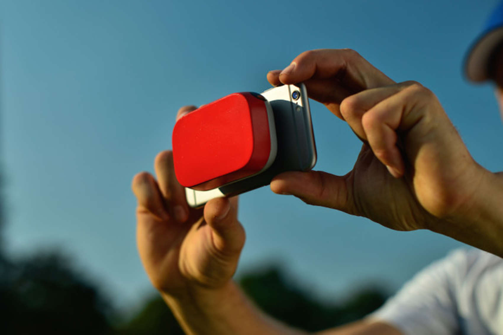 The Scoutee can attach to an iPhone and record pitch speeds and other data it sends to an app.