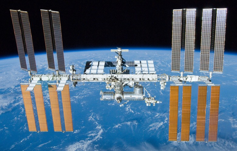 The International Space Station occasionally has to dodge pieces of debris floating in space.