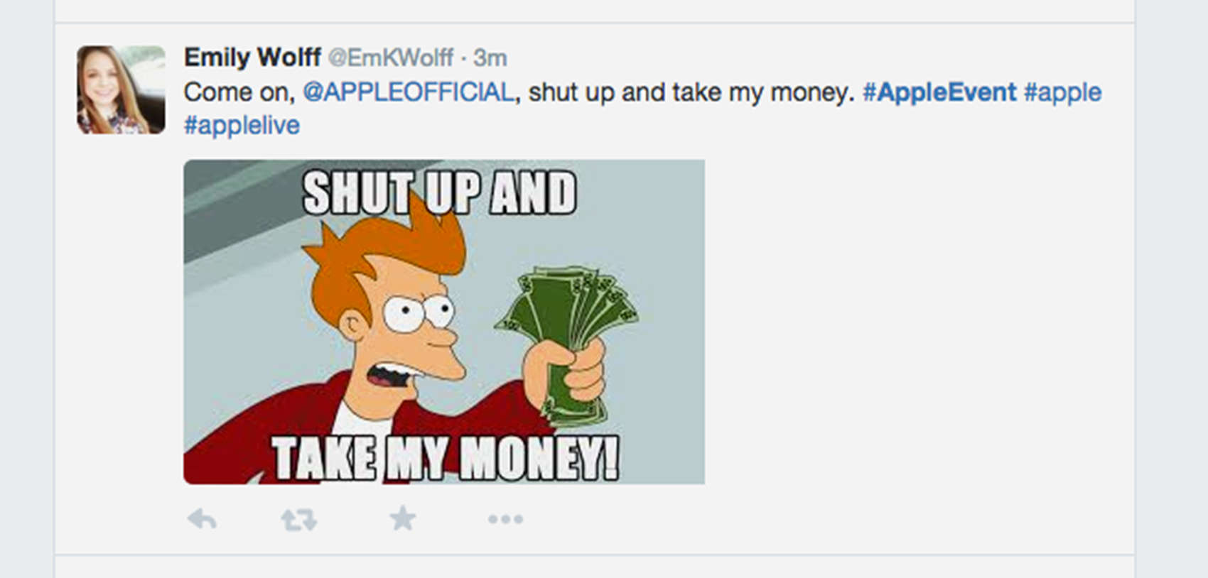 Apple fans on Twitter say they're ready to spend on new devices.