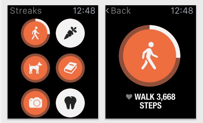 Streaks Apple Watch app