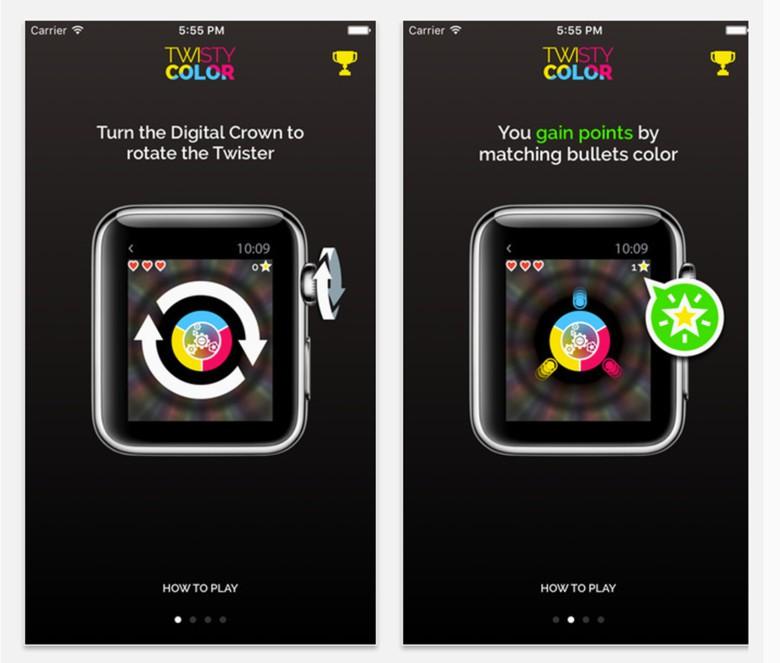 Twisty Color Apple Watch app