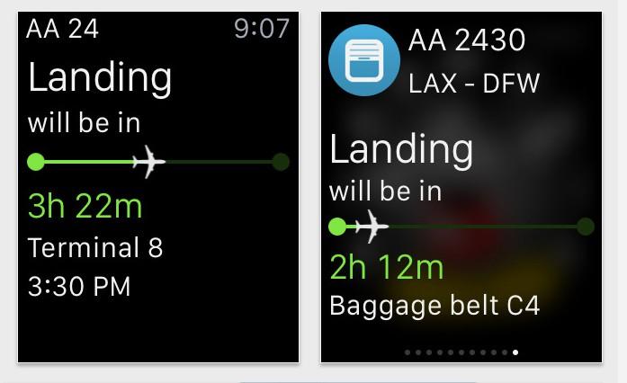 App in the Air Apple Watch app
