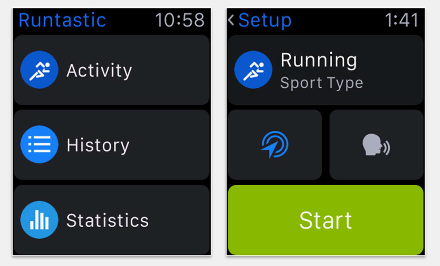 Runtastic Pro Apple Watch app