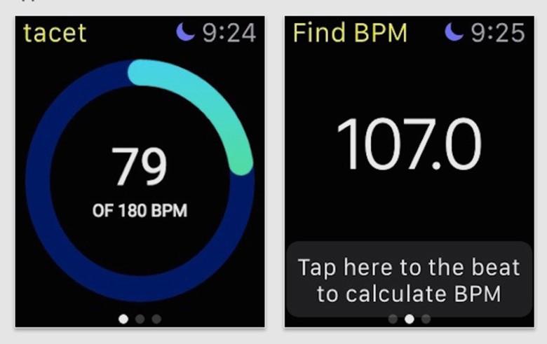 Tacet Apple Watch app
