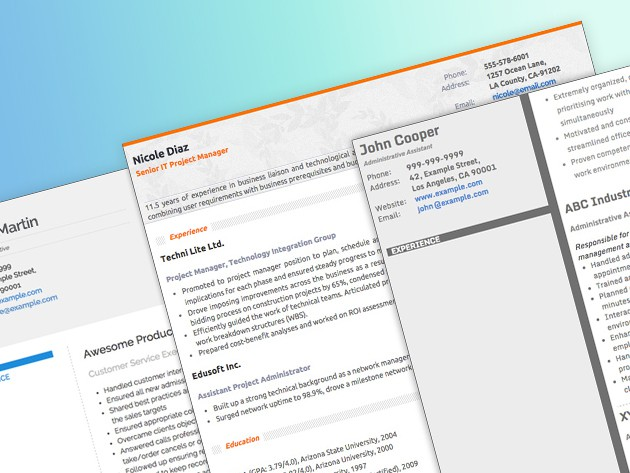 Resumonk makes it fast and easy to create beautiful, clear resumes so you can got on with looking for your next gig.