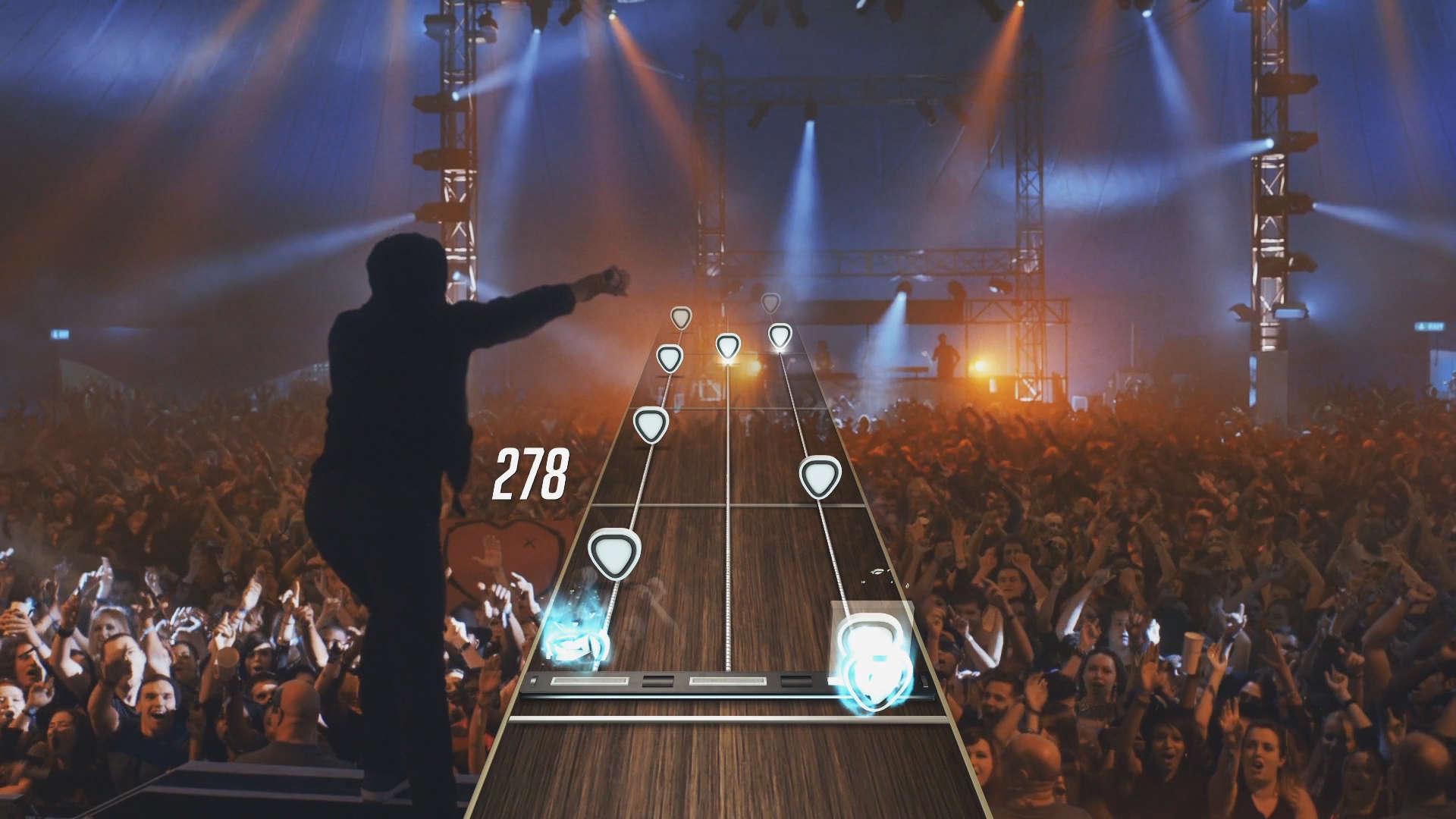 Guitar Hero Live ditches the cartoony look of previous games in the series.