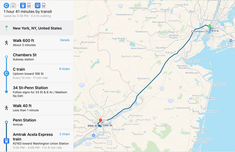 Apple Maps Trains Its Eye On Amtrak Routes Boston Transit Cult - Amtrak map of routes in us