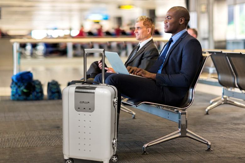 The iQ bag includes a router to give the traveler a Wi-Fi hotspot.