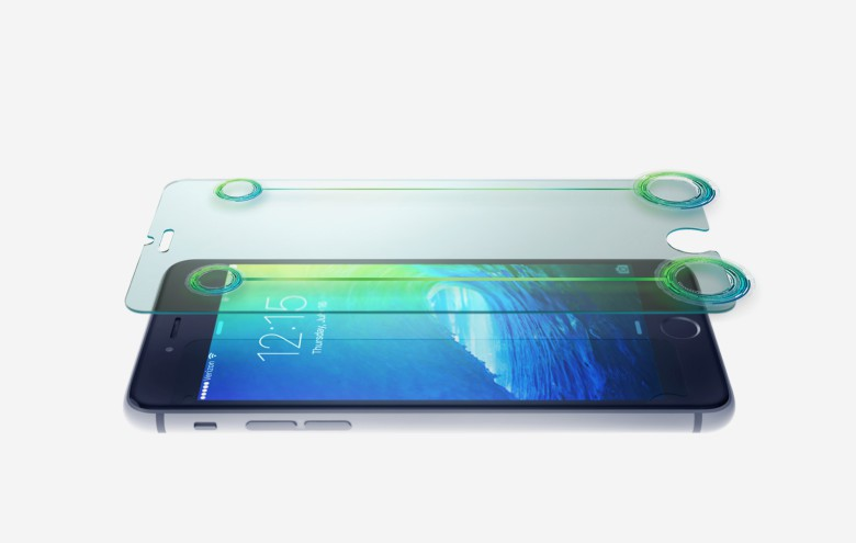 HYPER GLASS has curved edges and adds just .33 mm to the thickness of your iPhone 6 or 6 Plus