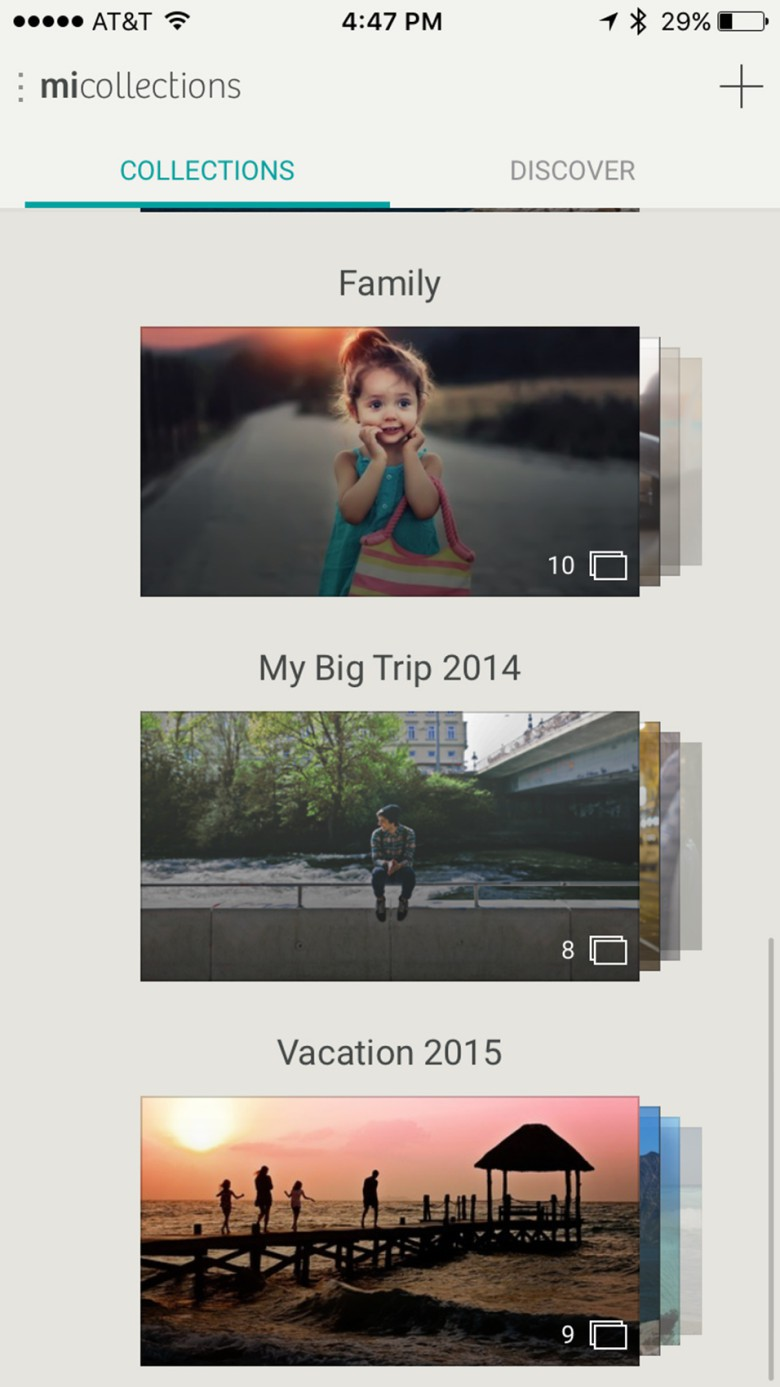 MiMedia lets you organize and easily share your pictures privately.