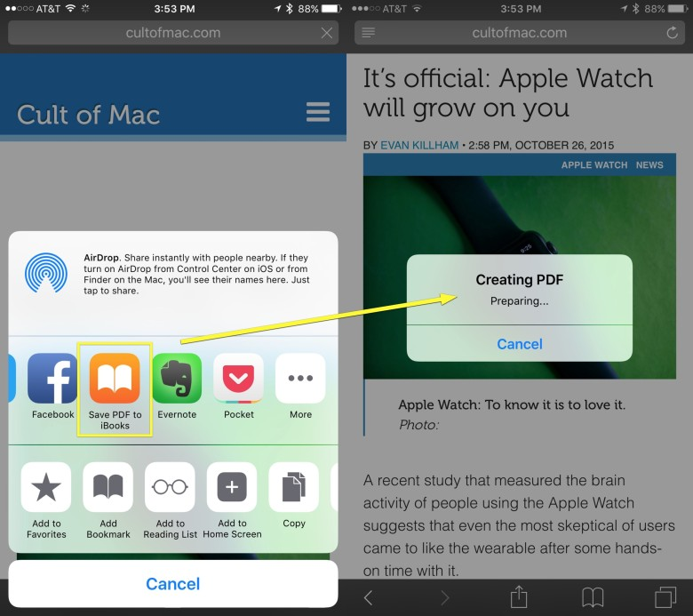 Pro Tip: How to save web pages to iBooks for offline viewing | Cult