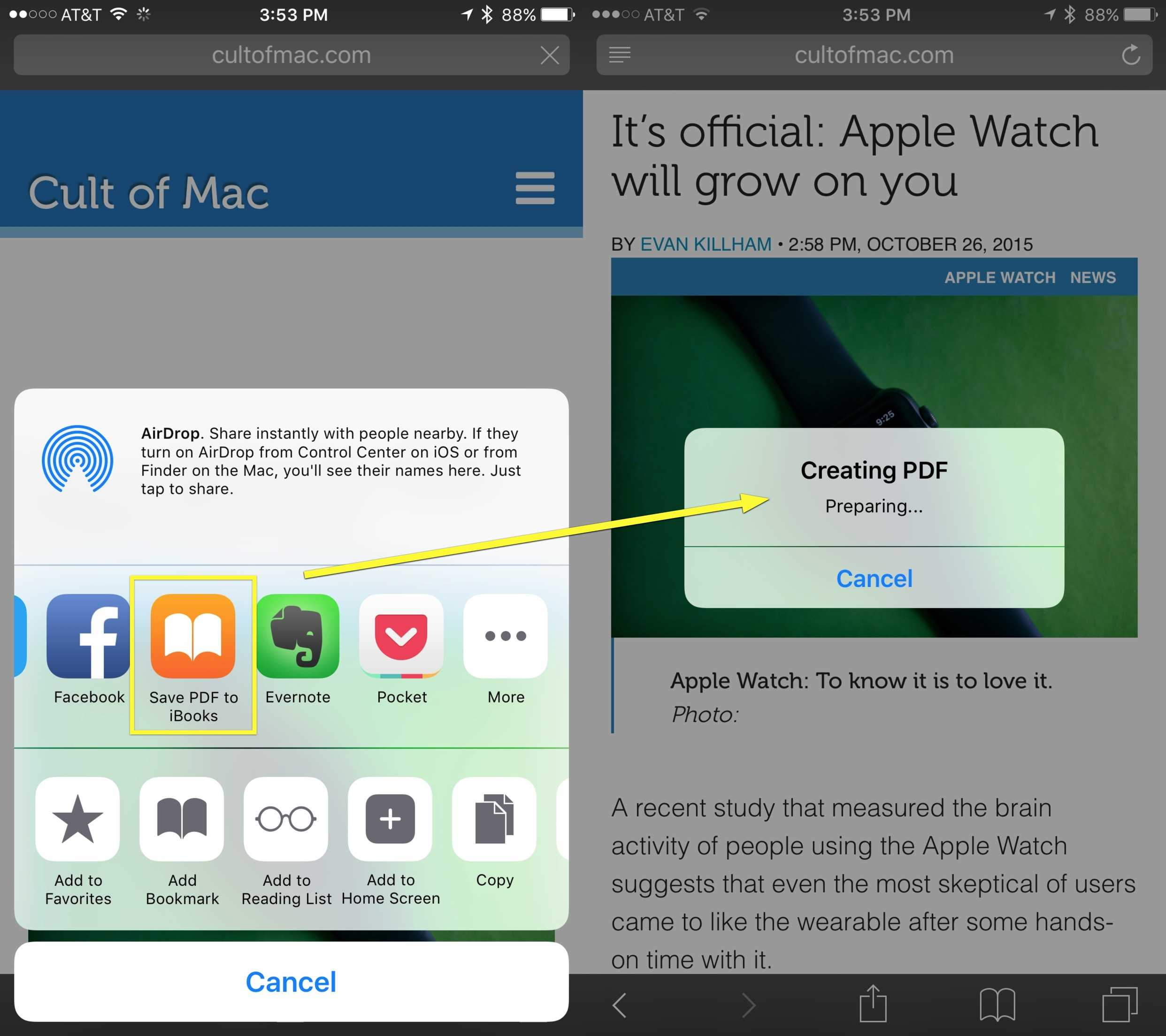 New Share Option For Ios 9 Lets You Create Pdfs From Any Web Page