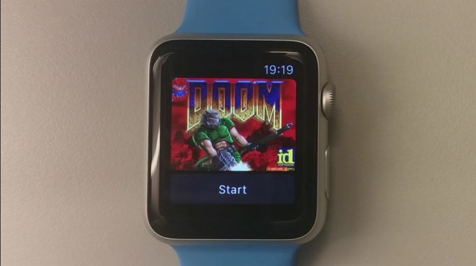 With watchOS 2, the Apple Watch can run Doom.