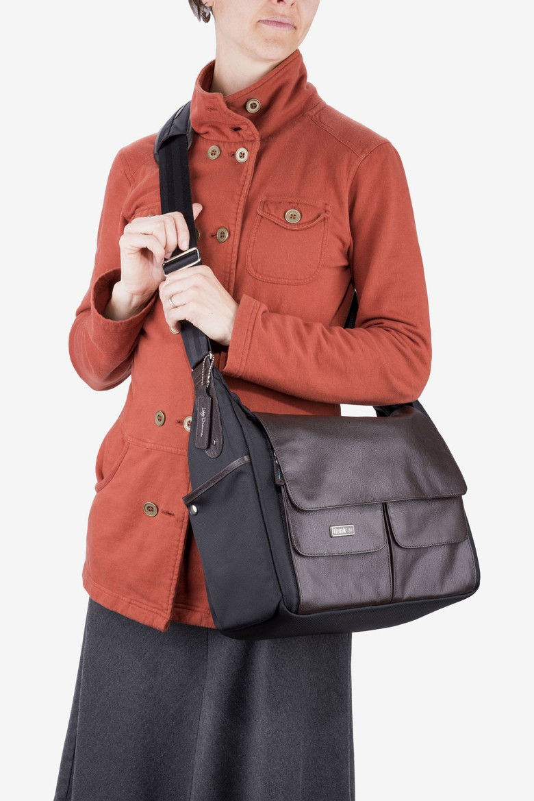 The Lily Deanne bag incorporates leather, metal and metal accents for elegant and still understated.