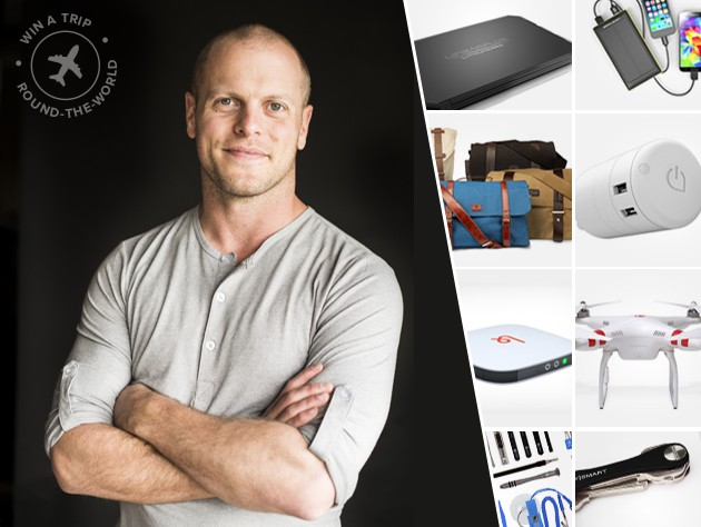 Enter for a chance to win a trip around the globe, a conversation with travel expert Tim Ferriss, and seven of the top gadgets for travel.