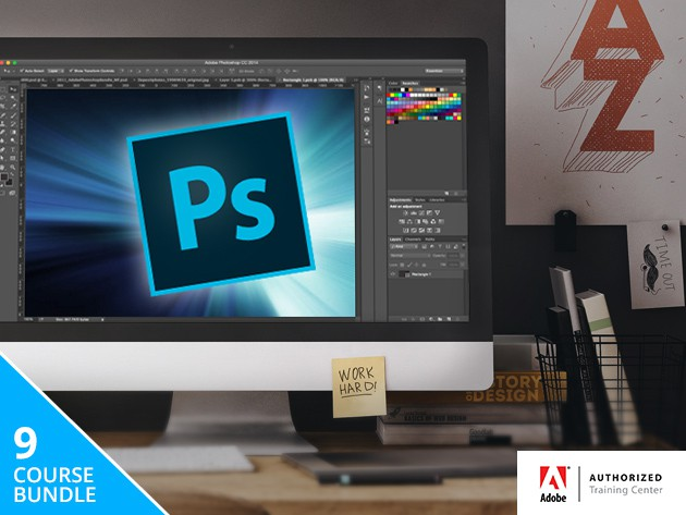 This 8-course bundle of lessons covers all the essentials of Adobe Photoshop, one of the most widely used applications in visual media.