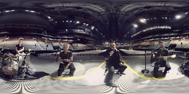 U2's VR music video feels like Bono is singing right at you.