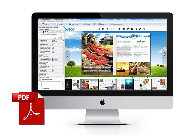 Flip PDF easily transforms simple PDF documents into beautiful digital books.