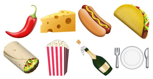 iOS 9.1 Food and Drink emojis