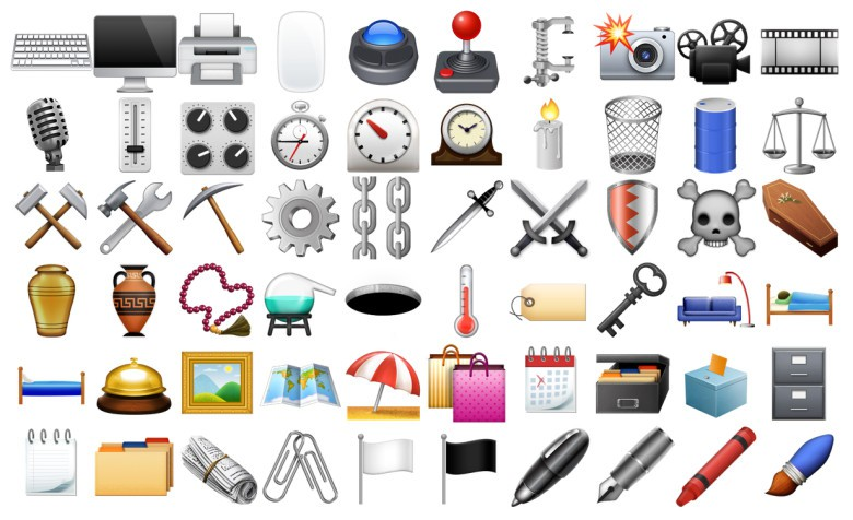 iOS 9.1 Objects emojis